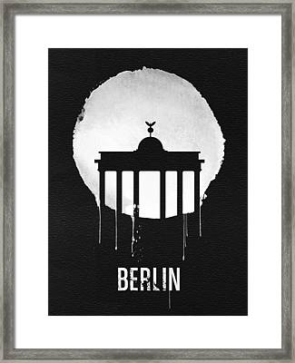 Berlin Landmark Black Framed Print by Naxart Studio