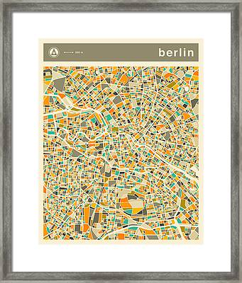 Berlin Map 2 Framed Print