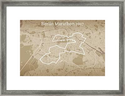 Berlin Marathon #1 Framed Print