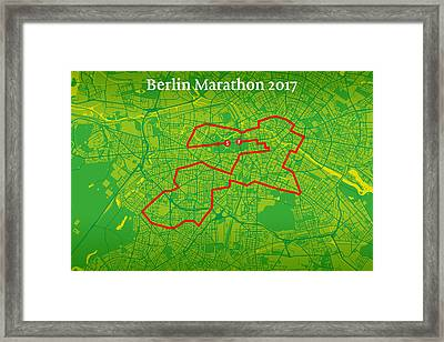 Berlin Marathon #2 Framed Print by Big City Artwork