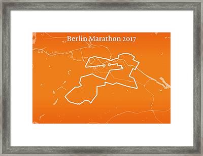 Berlin Marathon Line Framed Print