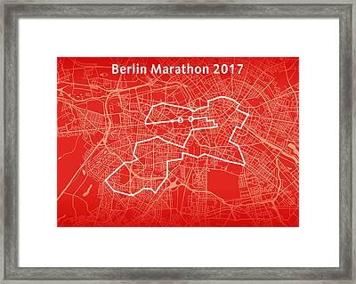 Berlin Marathon Red Framed Print