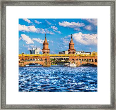Berlin Oberbaum Bridge Framed Print by JR Photography
