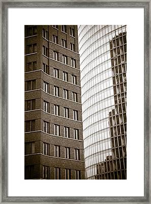 Berlin Potsdamer Platz Architecture Framed Print by Frank Tschakert