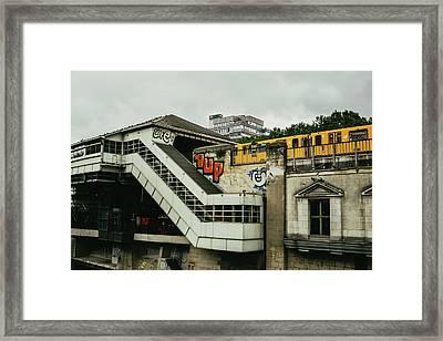 Berlin S-bahn Station Framed Print