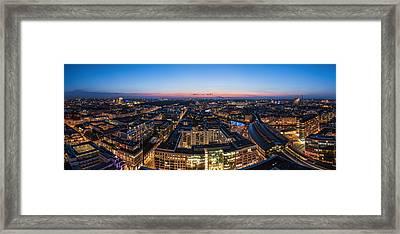 Berlin - Skyline City West #3 Framed Print