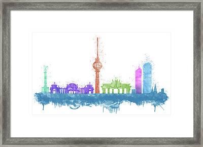 Berlin Skyline Framed Print by Solomon Barroa