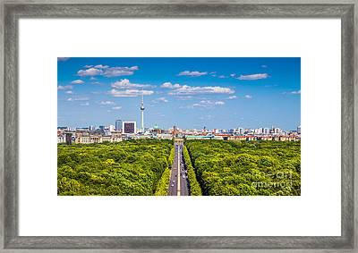 Berlin Skyline With Tiergarten Park Framed Print by JR Photography