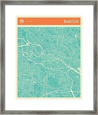 Berlin Street Map Framed Print