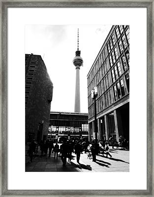 Berlin Street Photography Framed Print by Falko Follert