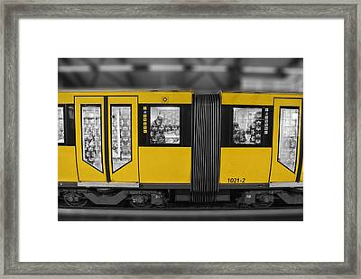 Berlin Underground Framed Print by Nathan Wright