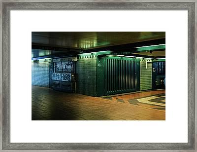 Berlin Underground Station Framed Print