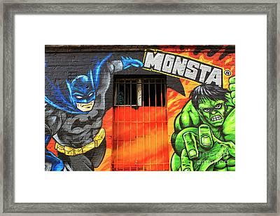 Berlin Wall Monsta Door Framed Print by John Rizzuto