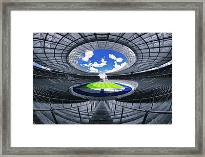 Berlin's Olympic Stadium Framed Print