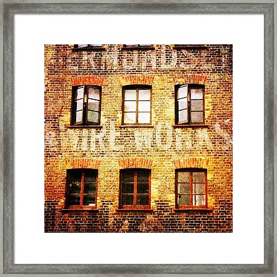 Framed Print featuring the photograph Bermondsey Mesh And Wire Works by Anne Kotan