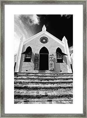 Bermuda Church Framed Print by George Oze