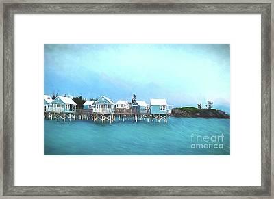 Bermuda Coastal Cabins Framed Print