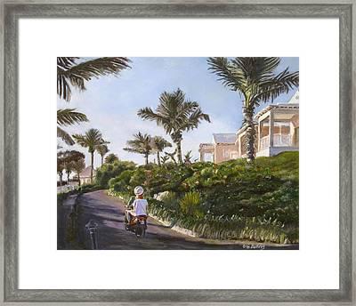 Bermuda Cottages Framed Print