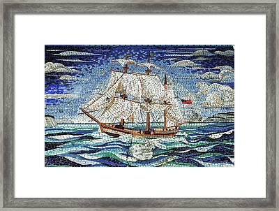 Bermuda Schooner Mosaic Framed Print by Sandy Taylor