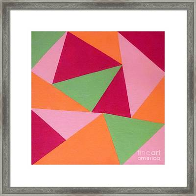 Bermuda Triangles Framed Print