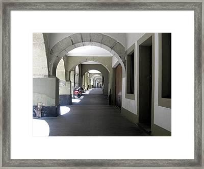 Bern Corridor Iv Framed Print by David Ritsema