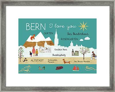 Bern I Love You Framed Print