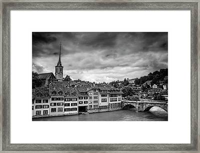 Bern Switzerland In Black And White  Framed Print