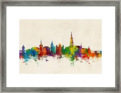 Bern Switzerland Skyline Framed Print