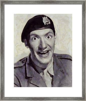 Bernard Bresslaw, Carry On Actor Framed Print by Sarah Kirk
