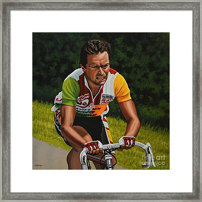 Bernard Hinault Framed Print by Paul Meijering