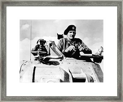 Bernard Law Montgomery Framed Print by War Is Hell Store