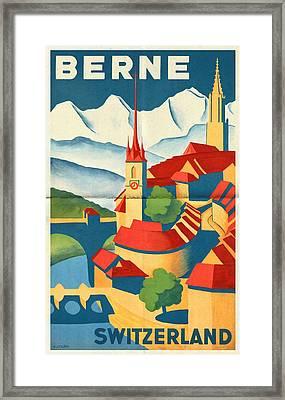 Berne Switzerland - Folded Framed Print