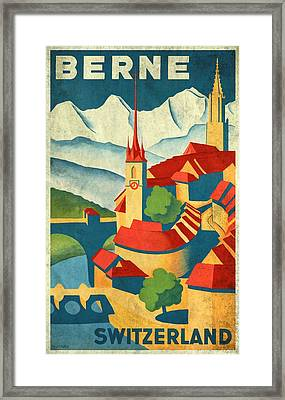 Berne Switzerland - Vintagelized Framed Print