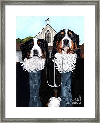 Berner Gothic - Bernese Mountain Dog Framed Print
