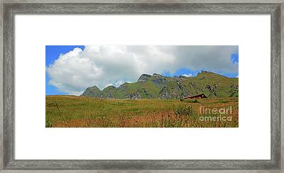 Bernese Alps Switzerland Mountain Landscape Framed Print