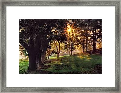Bernharts Dam Fog 001 Framed Print
