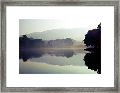 Bernharts Dam Fog 020 Framed Print by Scott McAllister