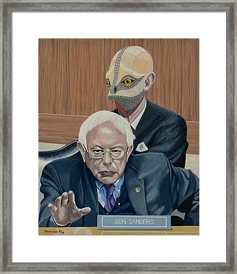 Bernie And The Reptilian Framed Print