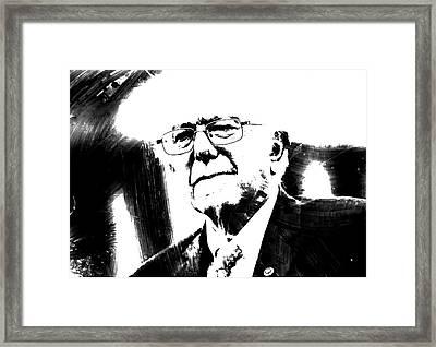 Bernie Sanders 1c Framed Print by Brian Reaves