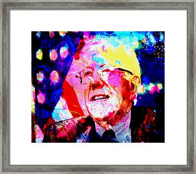 Bernie Sanders Framed Print by Brian Reaves