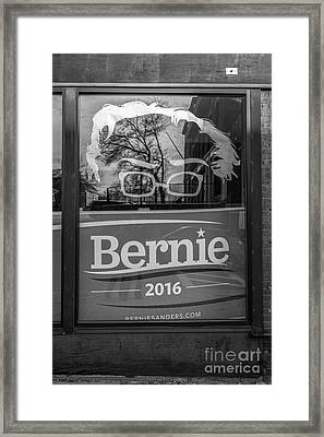 Bernie Sanders Claremont New Hampshire Headquarters Framed Print by Edward Fielding