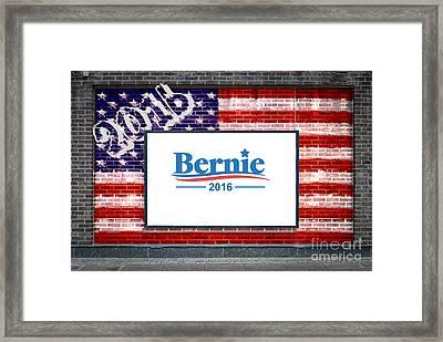 Bernie Sanders For President Framed Print