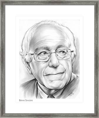 Bernie Sanders Framed Print by Greg Joens