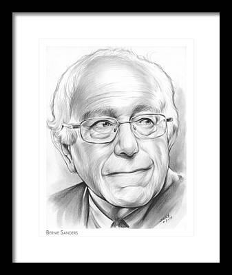 Bernie Sanders Framed Prints