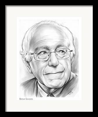 Bernie Framed Prints