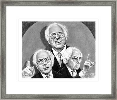 Bernie Sanders-murphy Elliott Framed Print by Murphy Elliott