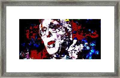 Bernie Sanders Paint Splatter 2a Framed Print by Brian Reaves