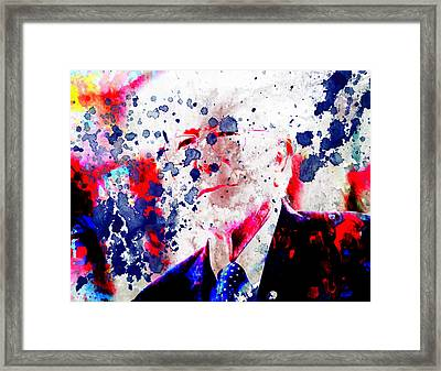 Bernie Sanders Paint Splatter Framed Print by Brian Reaves
