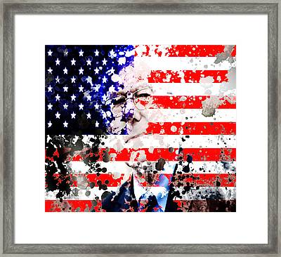 Bernie Sanders Shaking Things Up Framed Print by Brian Reaves