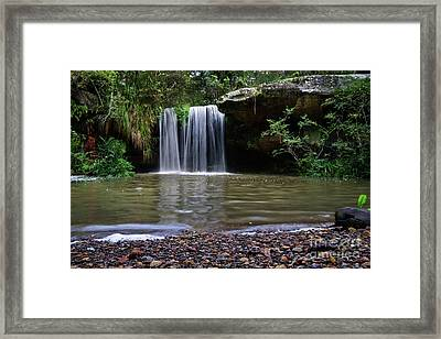 Framed Print featuring the photograph Berowra Waterfall by Werner Padarin